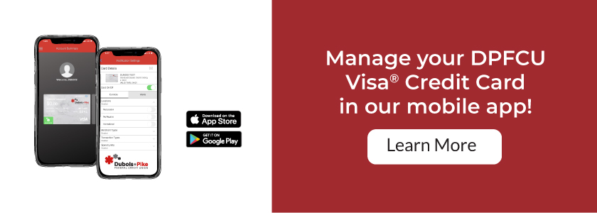Manage your credit card in our app